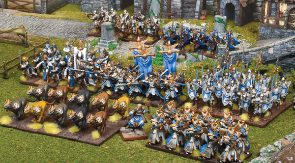 Large army on field of battle