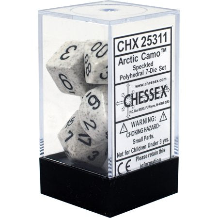 CHX25311 Speckled Artic Camo Standard set of 7 dice.