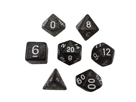 SkullSplitter Broken Contraption Glitter Black Dice