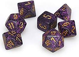 CHX25317 Speckled Hurricane Standard set of 7 dice.