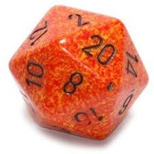 Chessex CHXXS2021 D20 34mm Speckled Fire