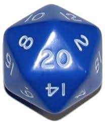 CHXXQ2006 D20 34mm Blue w/ White numbers