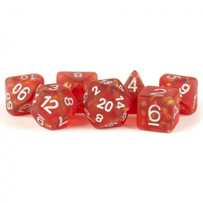 Metallic Dice Games LIC605 Icy Opal Red Dice