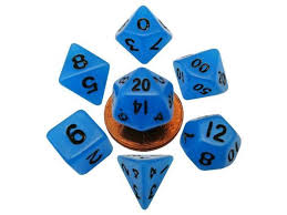 Dice MGD Mini Glow Blue