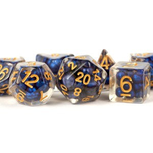 MDG LIC692 Royal Blue Pearl Beads dice w/ Gold numbers
