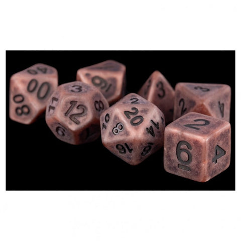 Metallic Dice Games LIC697 Ancient Copper Dice w/ Black Numbers