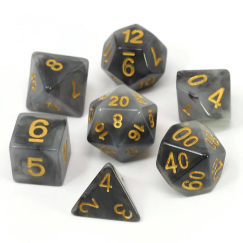 Die Hard Dice - RPG Set - Black Ice