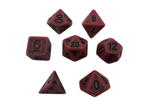 SkullSplitter Rusted Red Bone Dice
