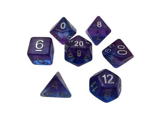Dice Glitter Layered Blue Purple (Starman)
