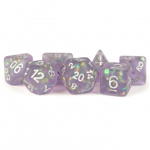 Metallic Dice Games LIC607 Icy Opal Purple Dice