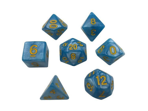 SkullSplitter Thunder Born Light Blue Marbled Dice