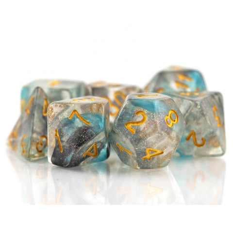 Tasty Minstrel Games TTTD1004 Final Frontier Bright Black, Blue & Clear Dice