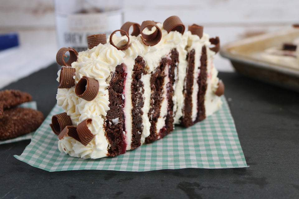 Cherry Chocolate Cookie Icebox Cake