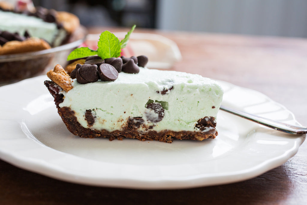 Mint Julep Chocolate Chip Icebox Pie