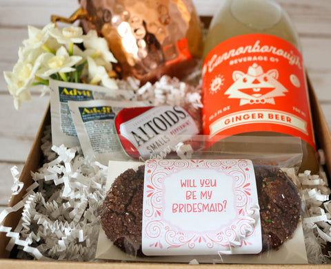 Grey Ghost Bakery Bridesmaid Proposal Snack Box Wedding Favors