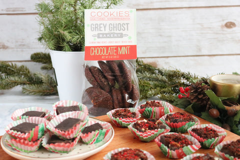 Grey Ghost Bakery Christmas Fudge REcipe with Chocolate Mint Cookies