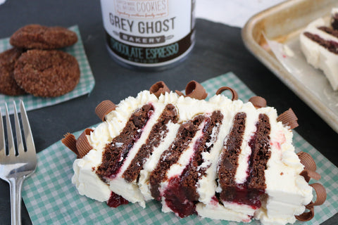 Grey Ghost Bakery Chocolate Espresso Cookie Cherry Icebox Cake Summer REcipe