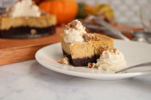 Grey Ghost Bakery Gourmet Cookies - Recipe - Pumpkin Cheesecake with Chocolate Bourbon Cookie Crust