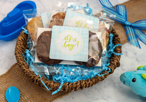 Grey Ghost Bakery Gourmet Cookie Favors Baby Shower Gender REveal Boy