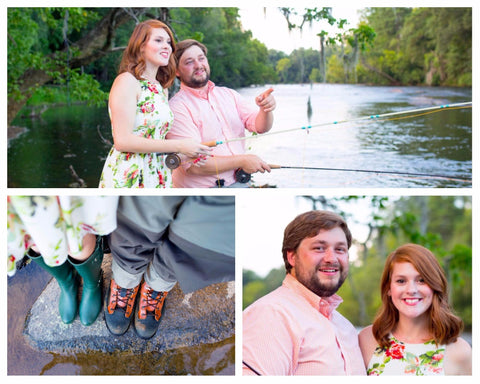 Southern Wedding with Fly Fishing Theme