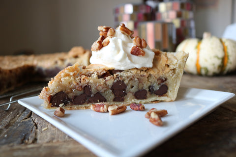 Grey Ghost Bakery Southern Thanksgiving Recipe Derby Pie with Pecans