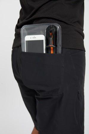 ugo slim waterproof pouch-blue and orange geo-pocket
