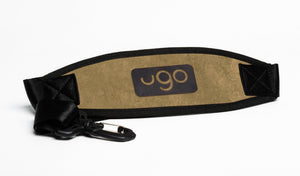 ugo waterproof tablet xl bag strap brush canvas khaki and orange