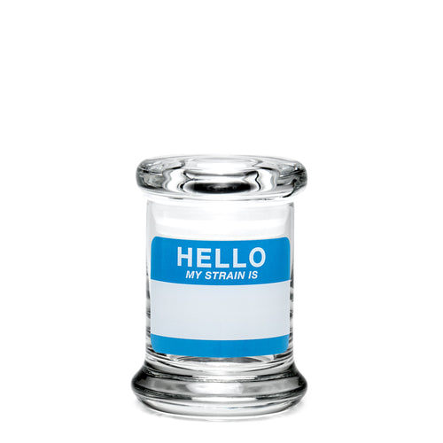 X-Small Pop-Top Hello Write & Erase - a 420 Jars, from 420 Science - find at 420Science.com