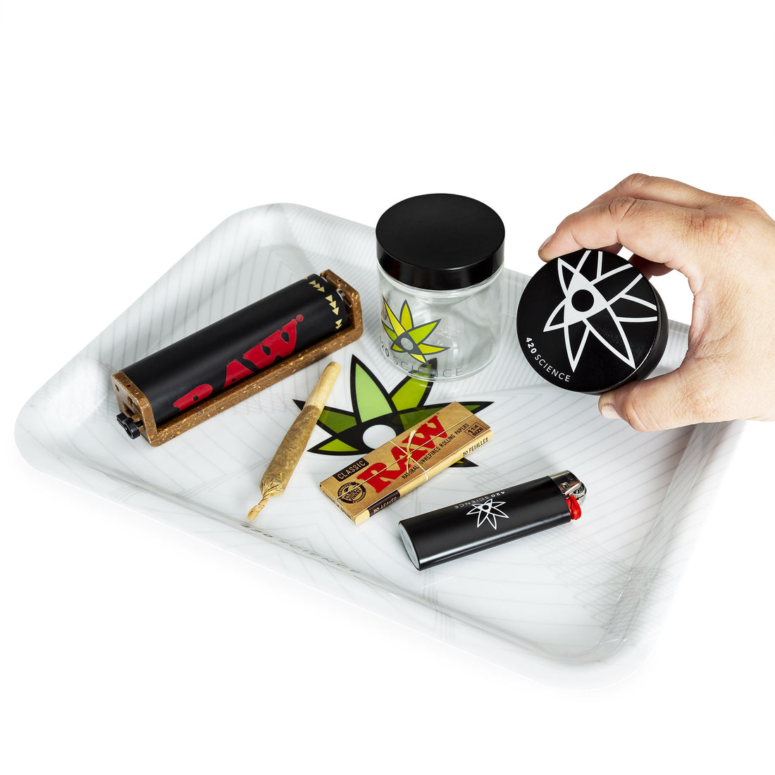 420 Science Rolling Tray - 420 Logo - 420 Science - The most trusted online smoke shop.