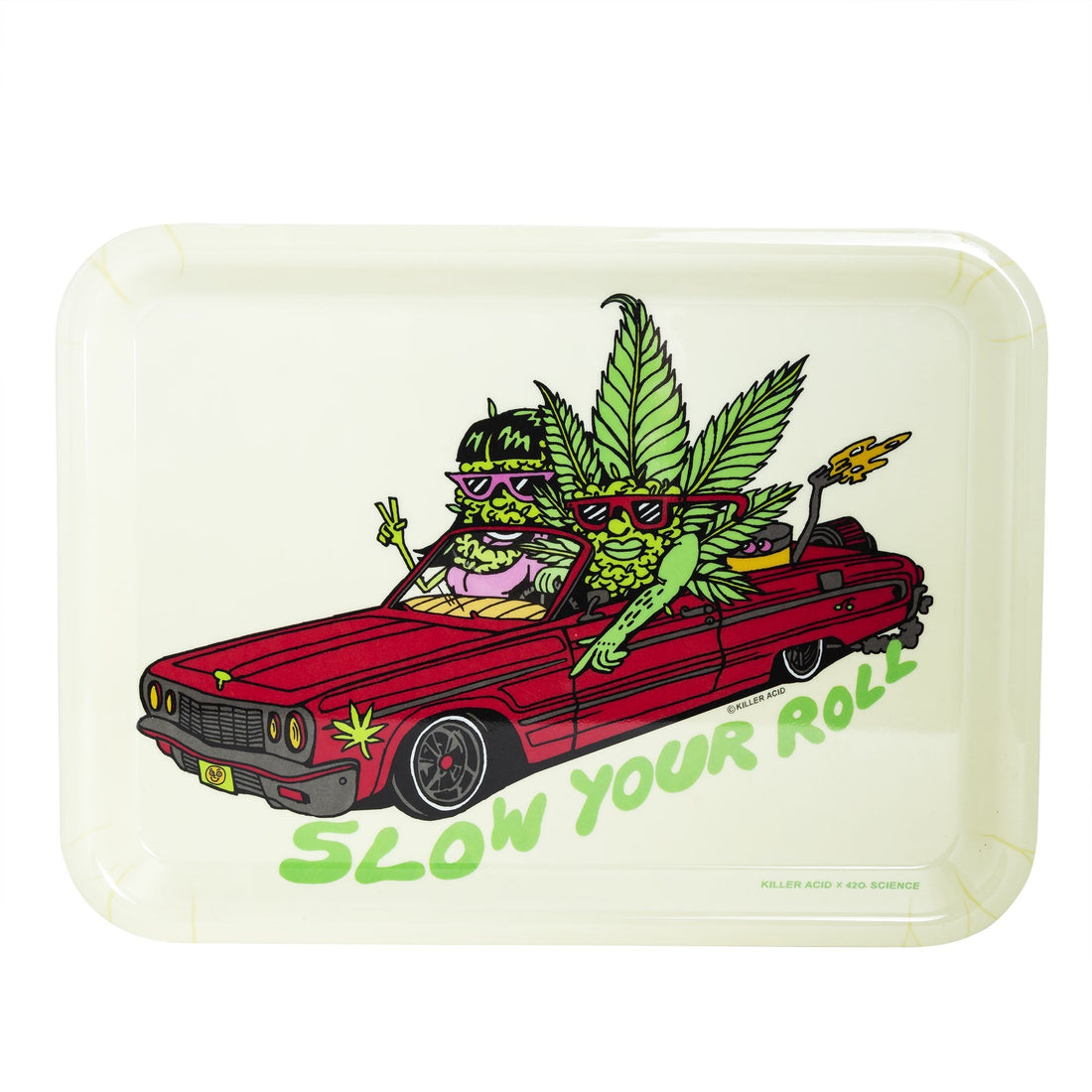420 Science x Killer Acid Rolling Tray - Slow Your Roll - 420 Science - The most trusted online smoke shop.