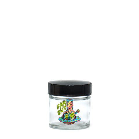 X-Small Clear Screw-Top - Far Out - a 420 Jars, from 420 Science - find at 420Science.com