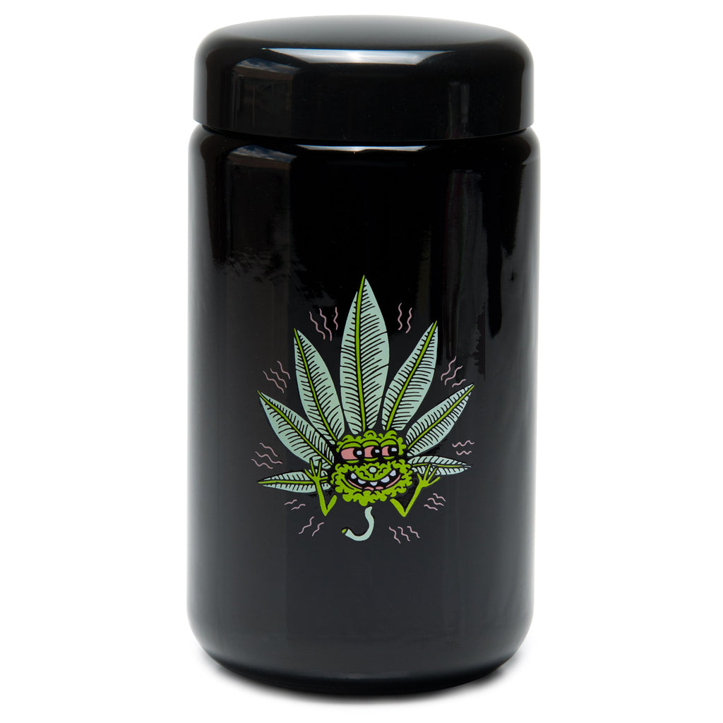 X-Large UV Screw-Top - Happy Leaf - a 420 Jars, from 420 Science - find at 420Science.com
