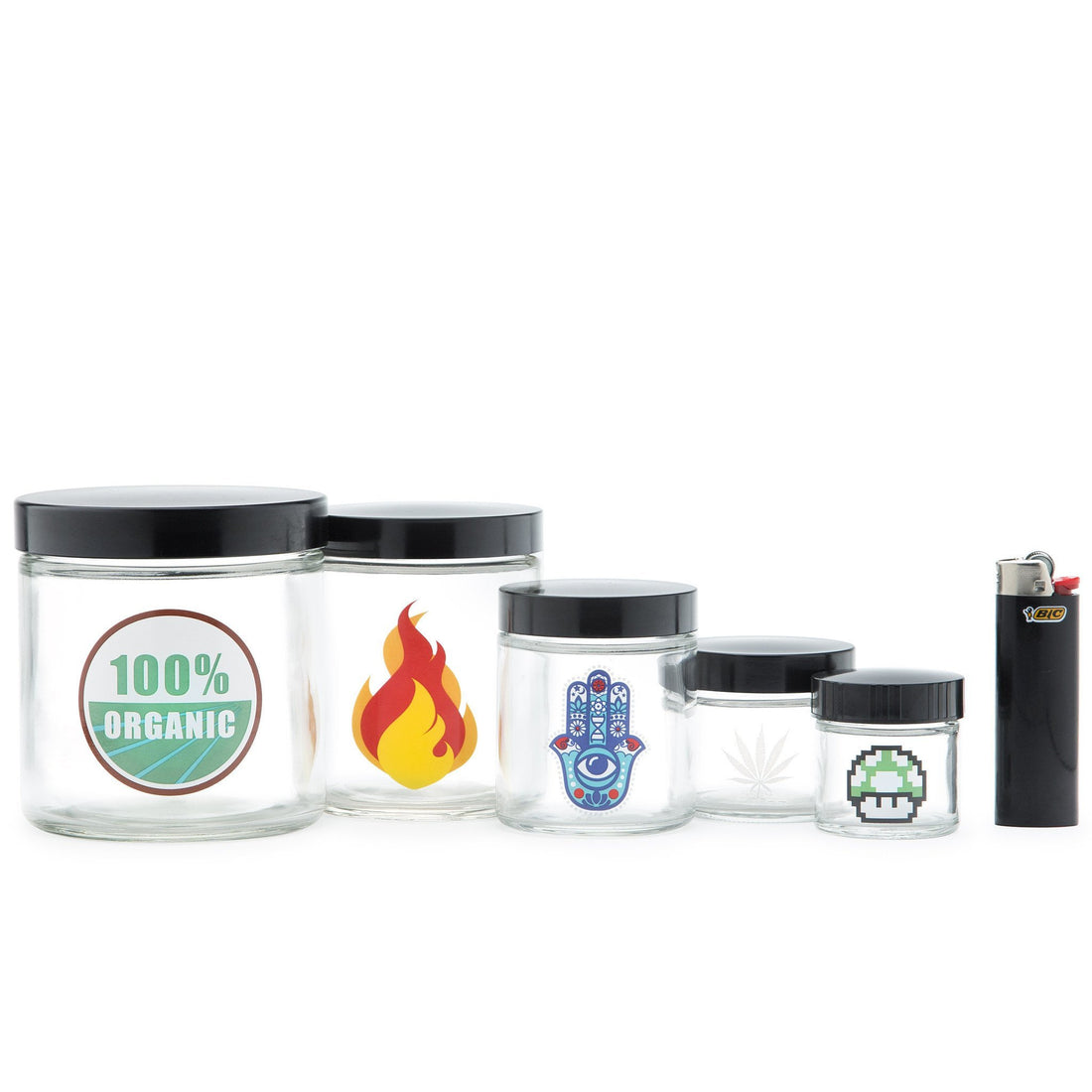 Large Clear Screw-Top - 420 Science Logo - 420 Science - The most trusted online smoke shop.