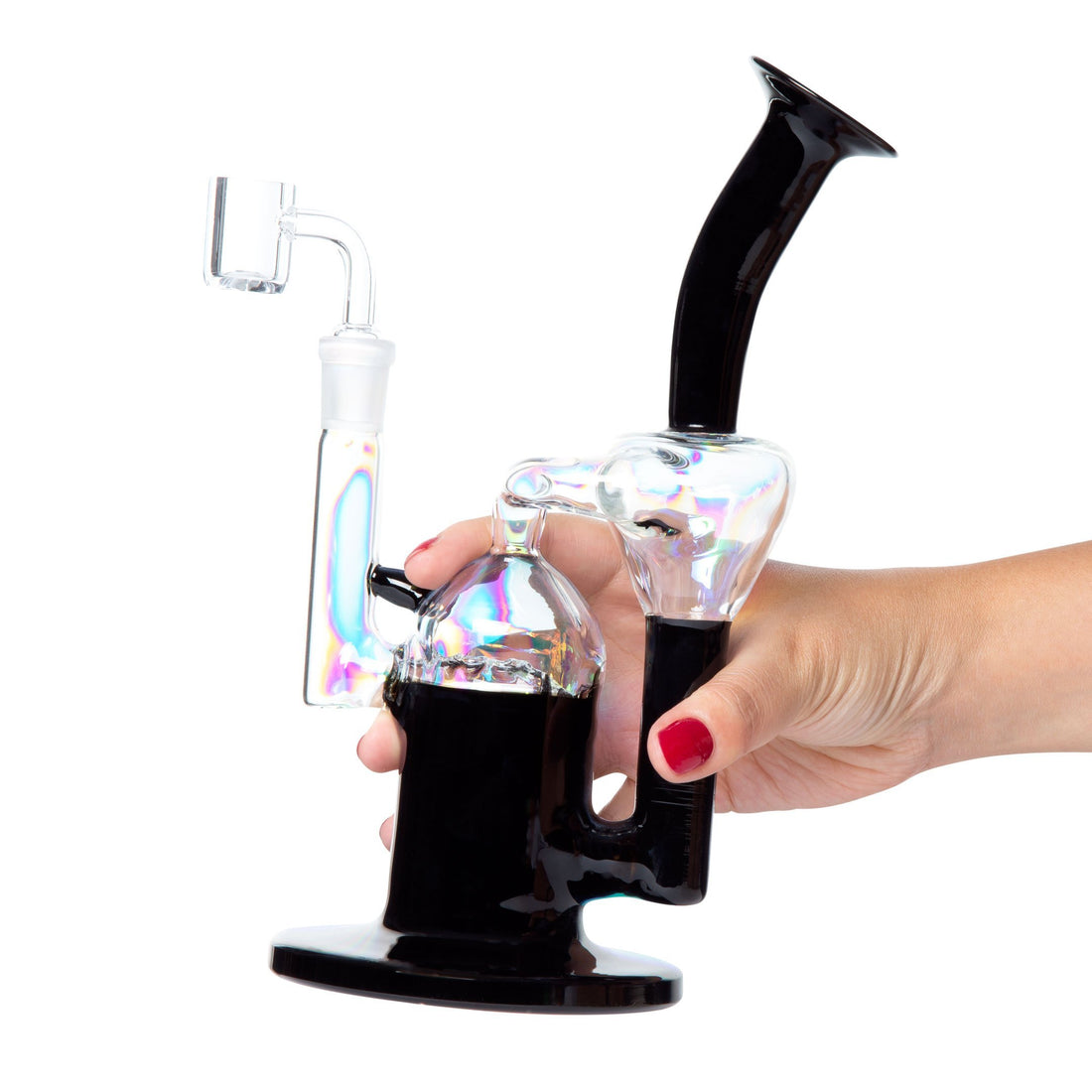 Envy Glass Dichro Coated Recycler - Black - 420 Science - The most trusted online smoke shop.