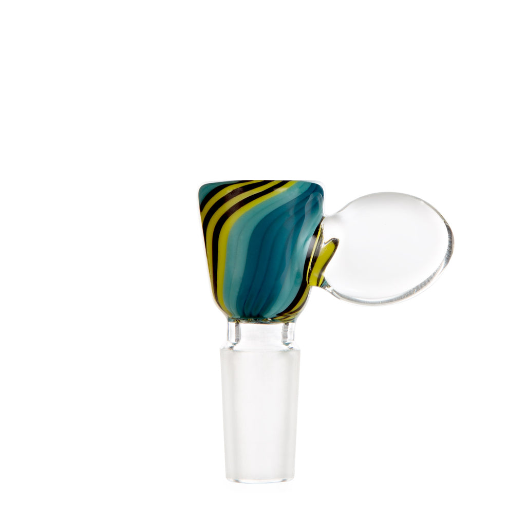Harold Ludeman Glass Martini Bowl - Aqua Jailbird - 420 Science - The most trusted online smoke shop.