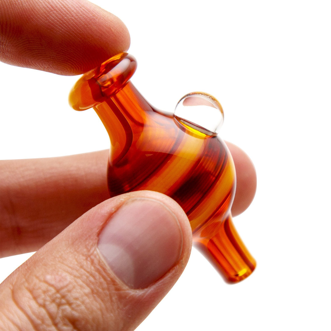 Home Blown Glass Bubble Carb Cap - Fire Swirl - 420 Science - The most trusted online smoke shop.