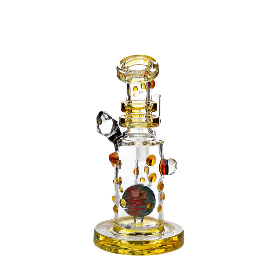 Hubbard Glass Dab Rig w/Wig Wag Perc - Northstar Yellow