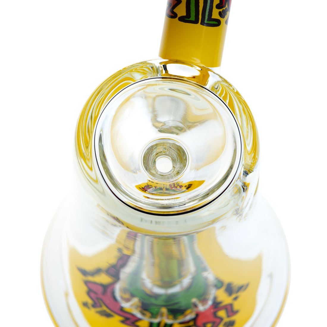 K. Haring Bubbler Pipe - Yellow - 420 Science - The most trusted online smoke shop.