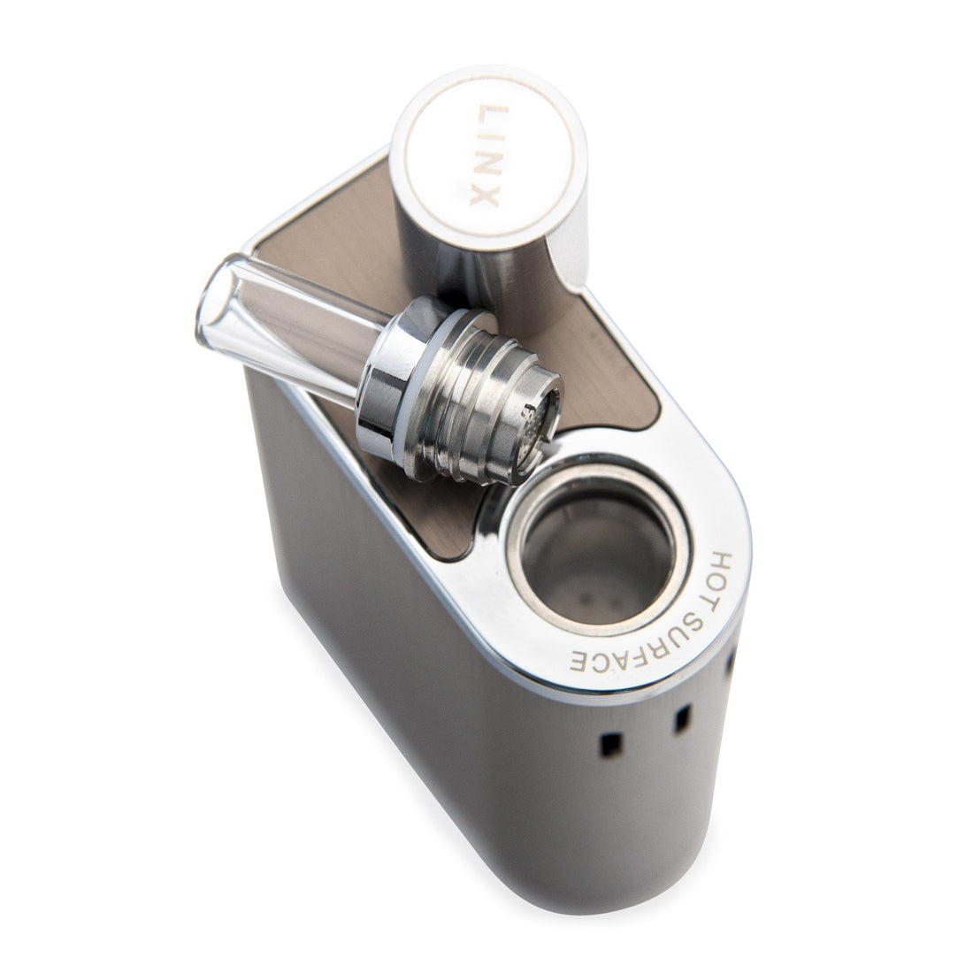 LINX Gaia Dry Herb Vaporizer - Steel - 420 Science - The most trusted online smoke shop.