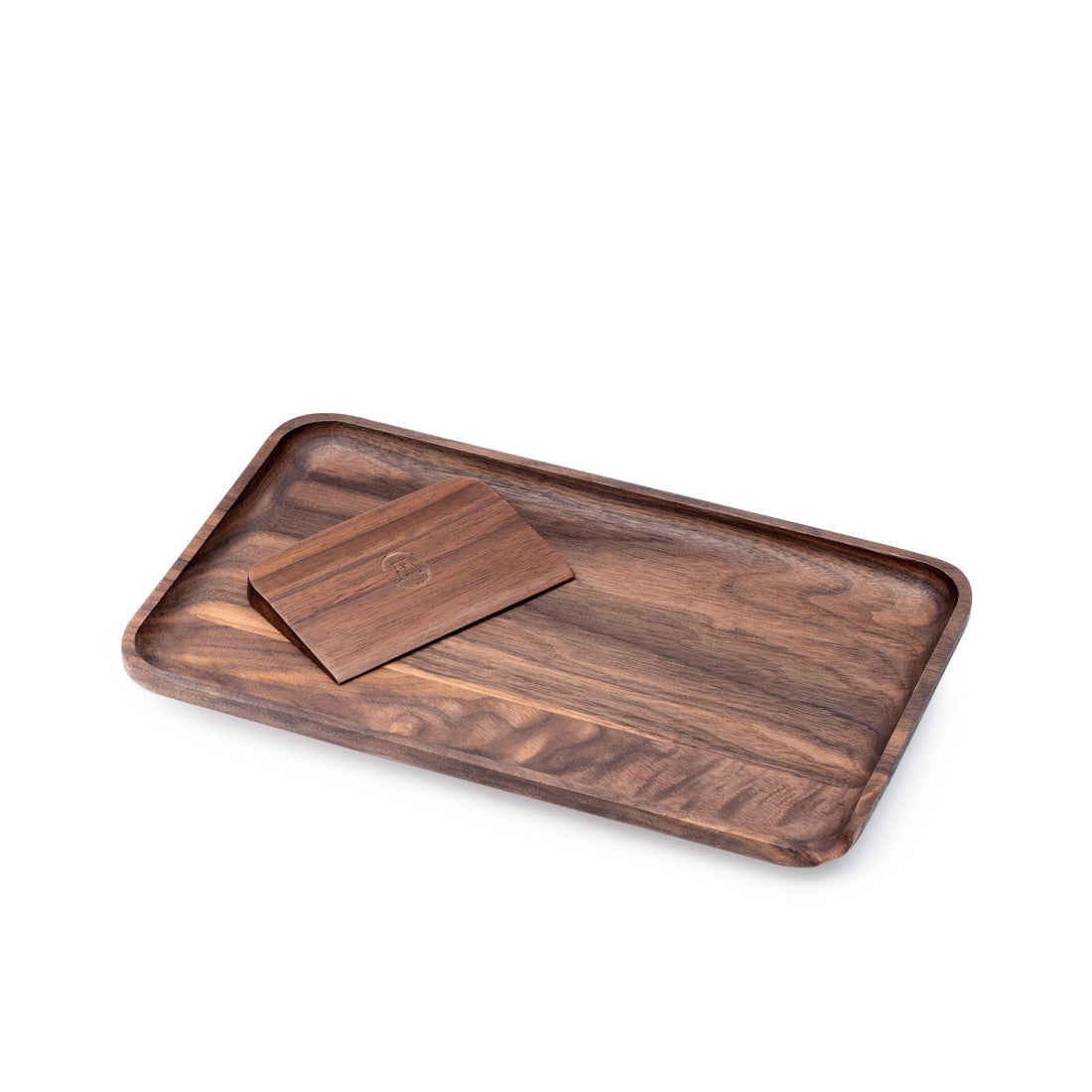 Marley Natural American Black Walnut Rolling Tray - Small