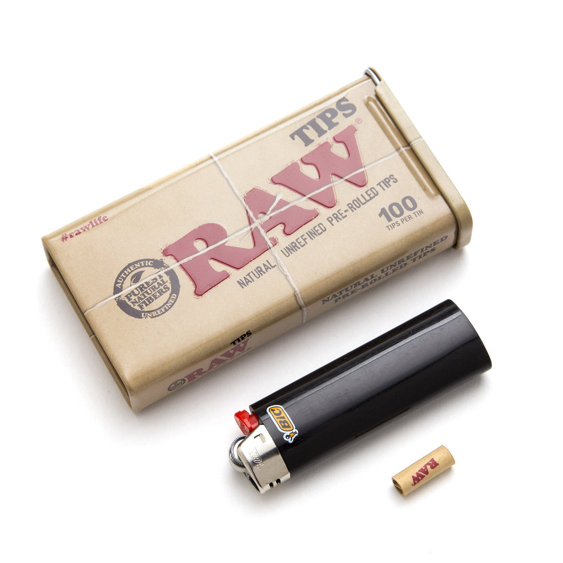 RAW 100 Pre-Rolled Tip Tin - 420 Science - The most trusted online smoke shop.