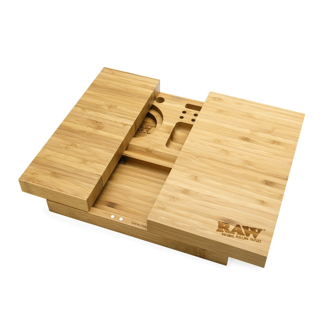 RAW Triple Flip Magnetic Bamboo Rolling Tray - 420 Science - The most trusted online smoke shop.