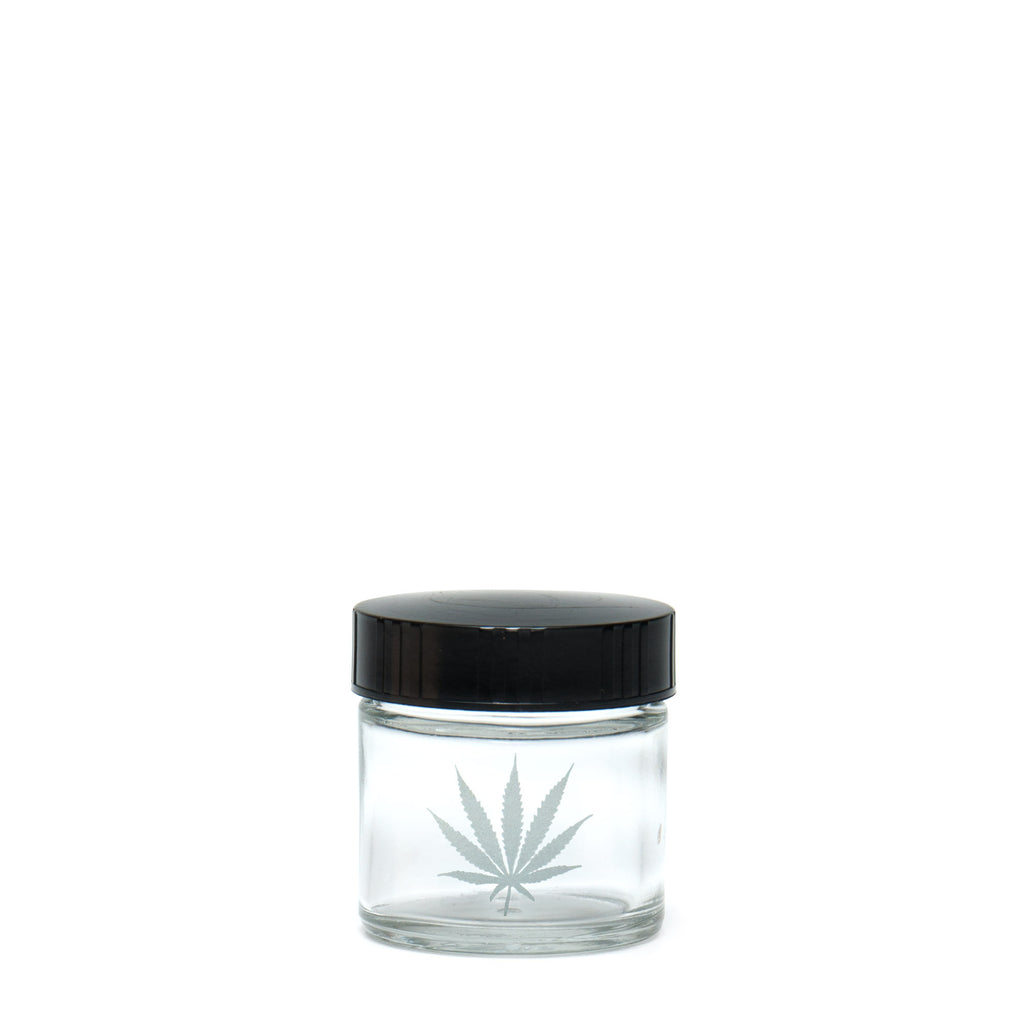 X-Small Clear Screw-Top - Silver Leaf - a 420 Jars, from 420 Science - find at 420Science.com