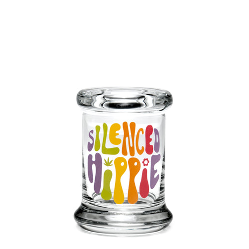 X-Small Pop-Top - Silenced Hippie - a 420 Jars, from 420 Science - find at 420Science.com