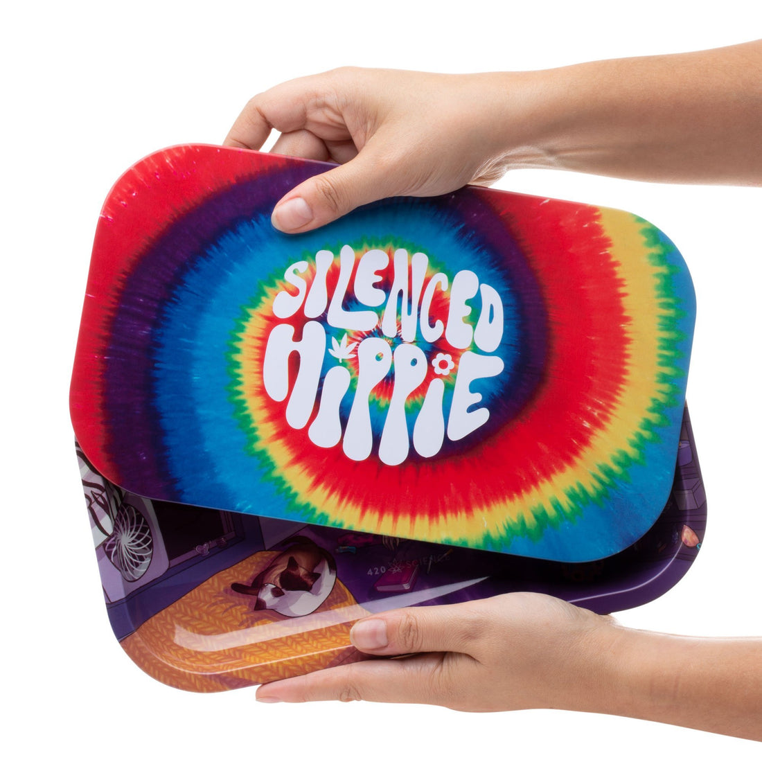 Silenced Hippie Rolling Tray