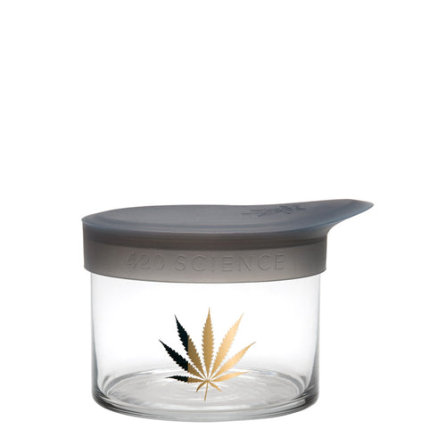 Small Wide-Mouth - Gold Leaf - a 420 Jars, from 420 Science - find at 420Science.com