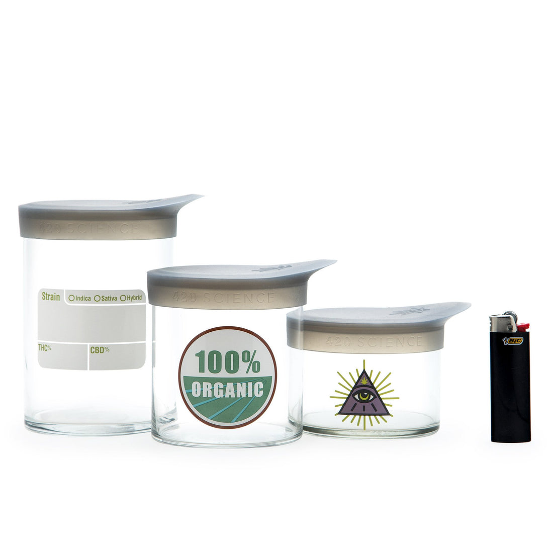 Medium Wide-Mouth - Gold Leaf - 420 Science - The most trusted online smoke shop.