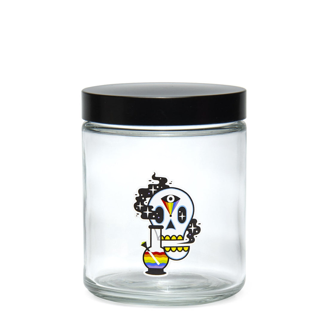 Large Clear Screw-Top - Cosmic Skull - 420 Science - The most trusted online smoke shop.