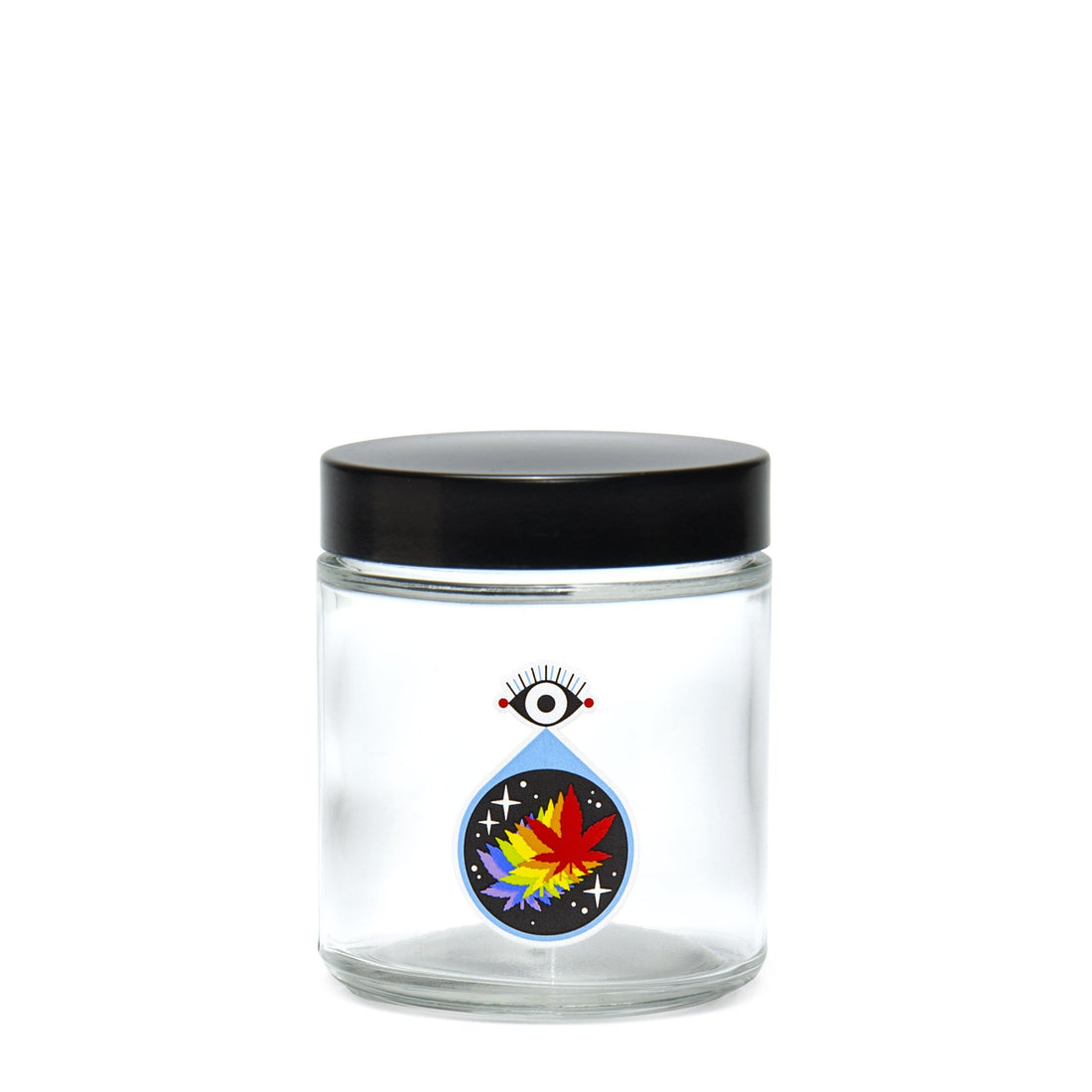 Medium Clear Screw-Top - All-Seeing Leaf - 420 Science - The most trusted online smoke shop.