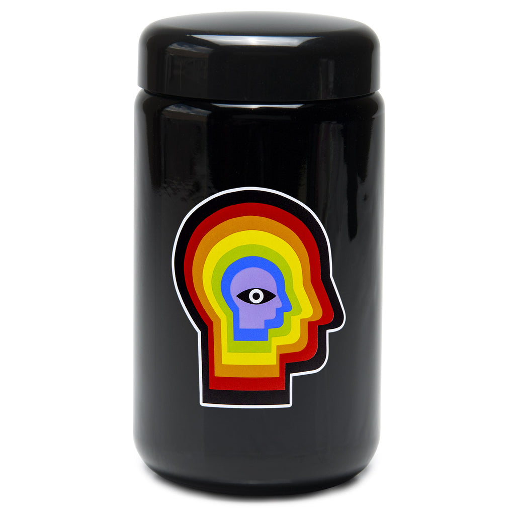 X-Large UV Screw-Top - Rainbow Mind - a 420 Jars, from 420 Science - find at 420Science.com
